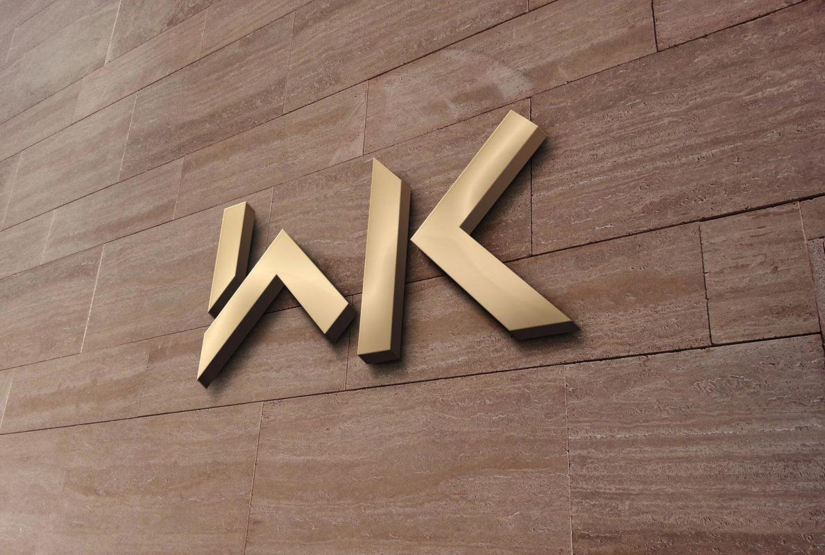 WK skilt