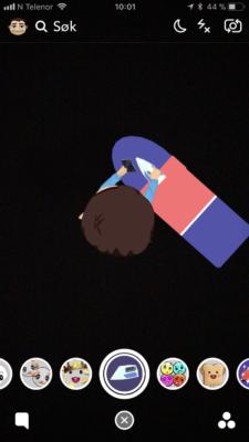Velg ønsket animasjon til figuren din