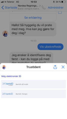 Nordea betaling via Facebook messenger 4