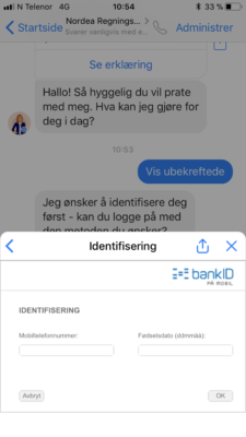 Nordea betaling via Facebook messenger 5