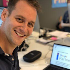 Caspar Rieber-Mohn AdWords ekspert hos Færd og helt rå innen annonsering på google, han kan hjelpe deg med Google Ads på tv