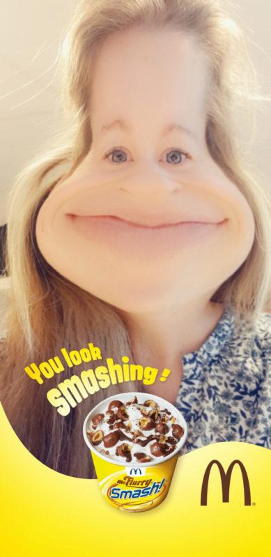 Bilde av Smash filter på snapchat
