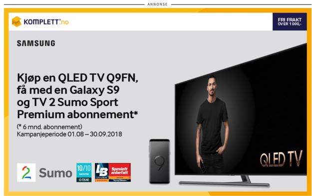 annonsering på google - eksempel på bannerannonse fra displaynettverket