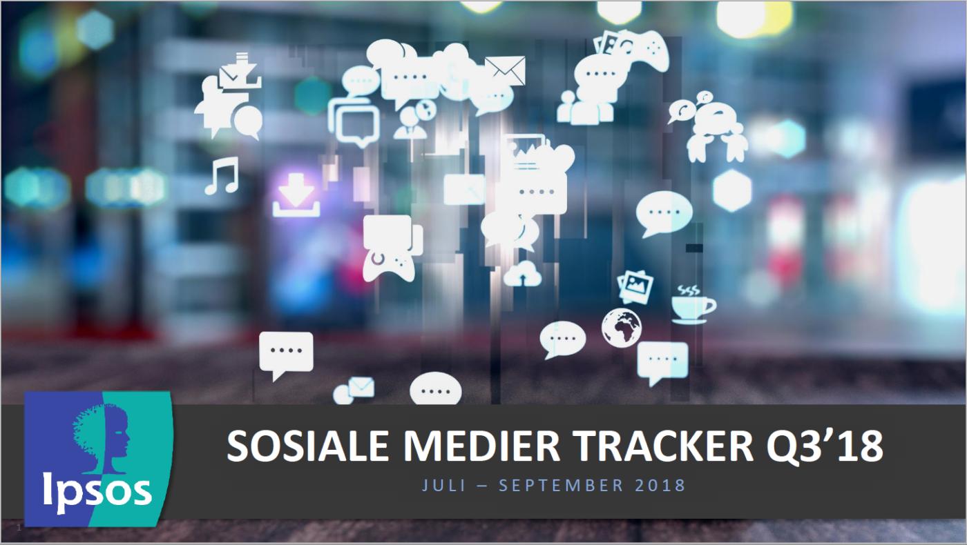 IPSOS SoMe tracker med tall rundt nordmenns bruk av sosiale medier.