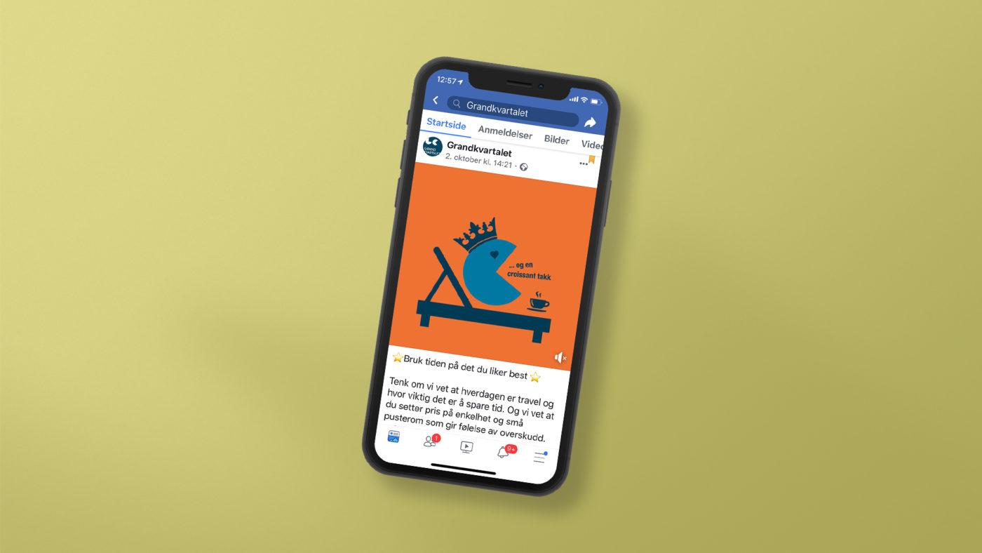 Grandkvartalet facebook kampanje på mobil