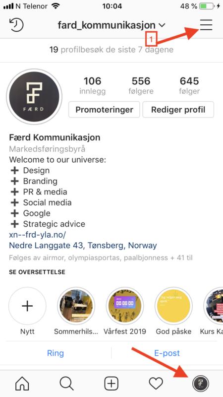 Sett opp en bedriftskonto for Instagram 1