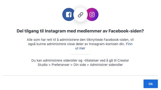 Sette opp administrator på Instagram creative studio