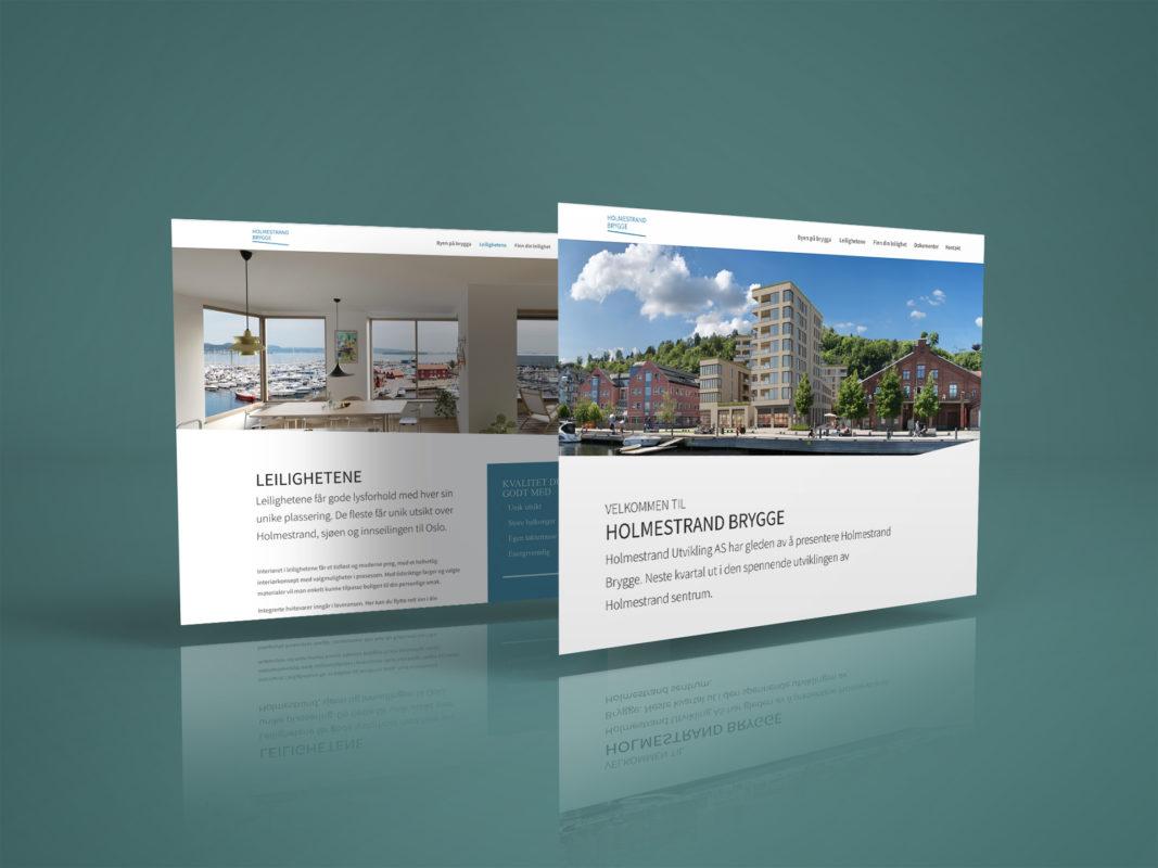 Holmestrand Brygge hjemmeside