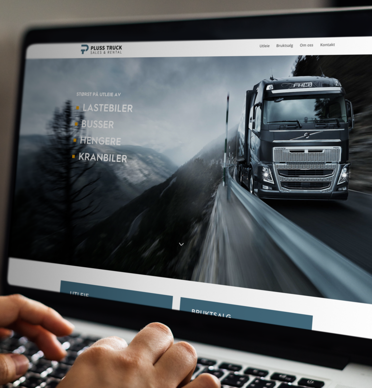 Pluss truck logo og web